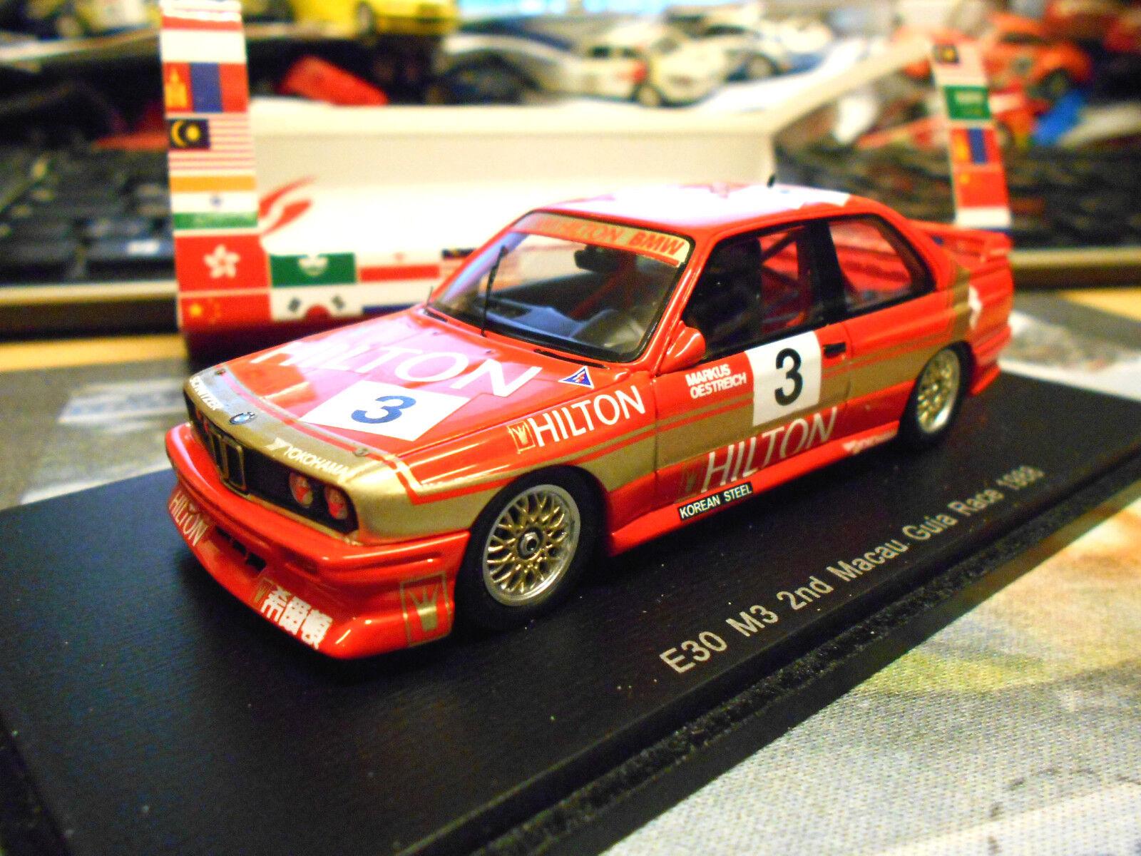 BMW m3 e30 Macao GP 1988 giua  3 Oestreich 2nd Hilton 1 300 spark res 1 43