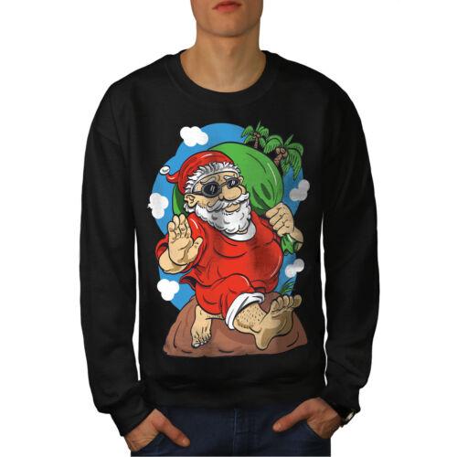 Uomo New Holidays da Santa Black Felpa pq5fxwOp