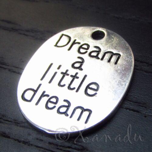 10 Dream A Little Dream Wholesale Silver Plated Charm Pendants C7664-5 20PCs