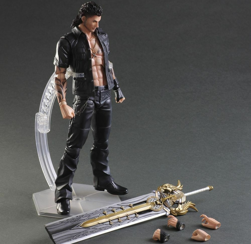 Spielen kunst kai final fantasy xv  gladiolen amicitia pvc - actionfigur new in box