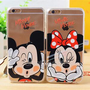 Cute-Cartoon-TPU-Crystal-Phone-Case-Cover-Skin-for-iPhone-X-5-6S-7-8Plus-Samsung