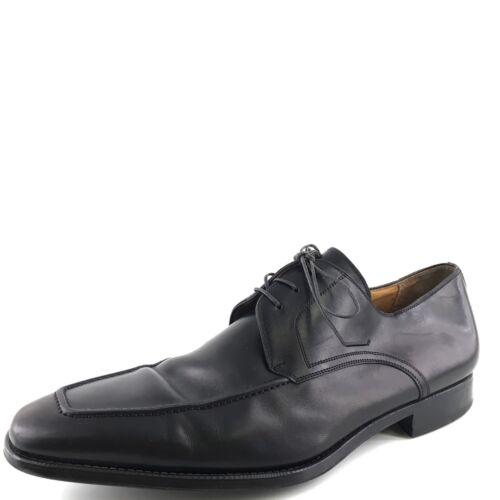Magnanni Pardo Black Leather Lace Up Derby Oxfords