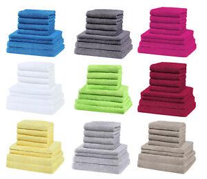 GREEN-MARK-Textilien-8er-Handtuch-Set-in-vielen-Farben-Groessen-100-Baumwolle