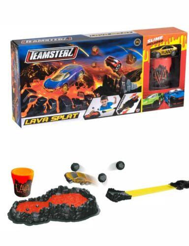 Teamsterz LAVA SPLAT Track Set compreso auto giocattolo e Set Gioco Slime