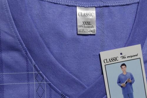 Herren Winter angeraut Schlafanzug Sehr Angenehm warm Pijama in Blau Bnn4Bl