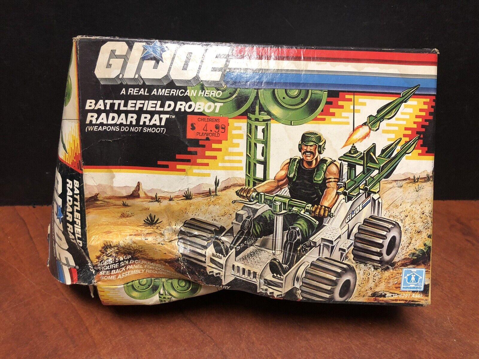 Gi Joe 1988 Vintage Battlefield robot radar Rata Con Caja Sin Montar que 0598