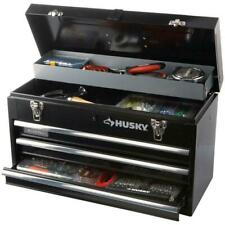20 Inch 3 Drawer Small Metal Portable Tool Box With Drawers And Tray Heavy Duty