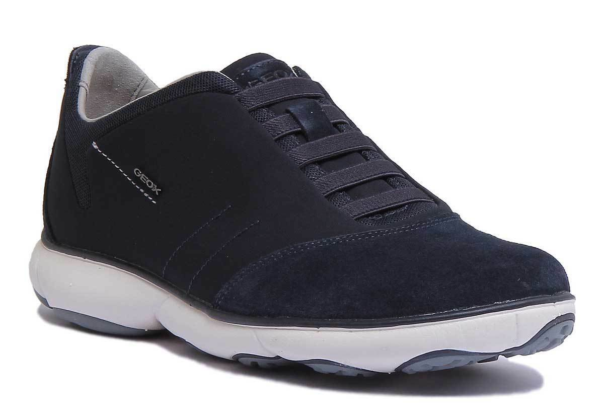 Geox U Nebula B Mens Navy Suede Mesh Shoes Size