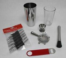 18 pc BOSTON COCKTAIL SHAKER Pro Bartender Drink Mixing Bartending Kit FREE SHIP