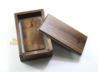 Brown Wood Case+ Wooden USB Drive 2.0 Memory Flash Thumb Stick Genuine GB GIGA