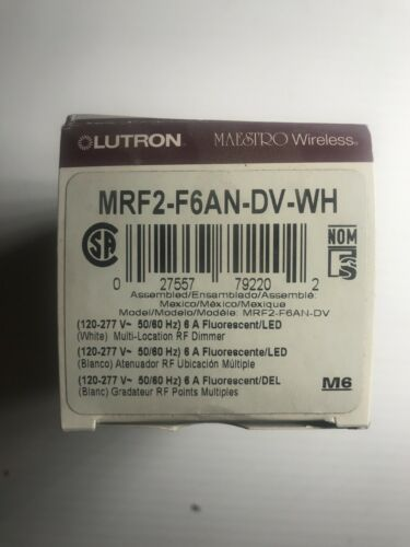 Lutron Maestro Wireless MRF2-F6AN-DV-WH Dimmer White