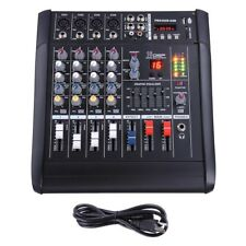 PRE-SALE 4 Channel Pro Powered Mixer Power Mixing Amplifier W/USB Slot Amp 16DSP