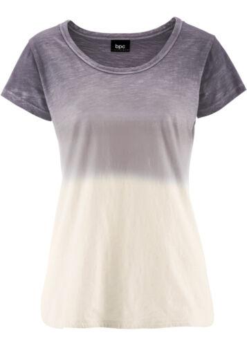 36 // 38 Gr Q283-951500 Trendy Kurzarmshirt mit Farbverlauf in Rauchgrau