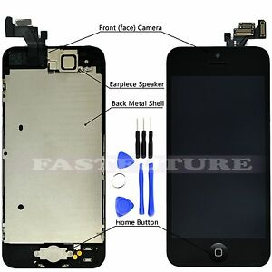 Full-Assembly-W-Botton-LCD-Touch-Screen-Digitizer-for-iPhone-5-5c-5s-Black