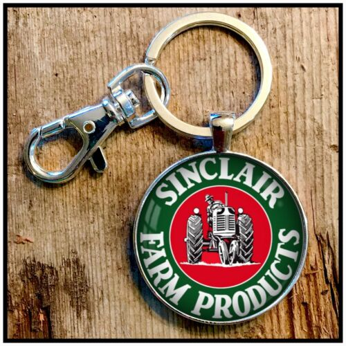 Sinclair Farm Products Sign photo keychain Tractor Sign Photo Key Chain