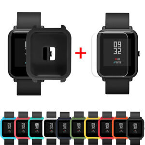 Soft-Silicon-Case-Covers-for-Huami-Amazfit-Bip-Youth-Watch-with-Screen-Protector