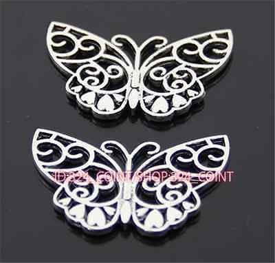 P806 5pc Tibetan Silver butterfly Charm Beads Pendant accessories wholesale