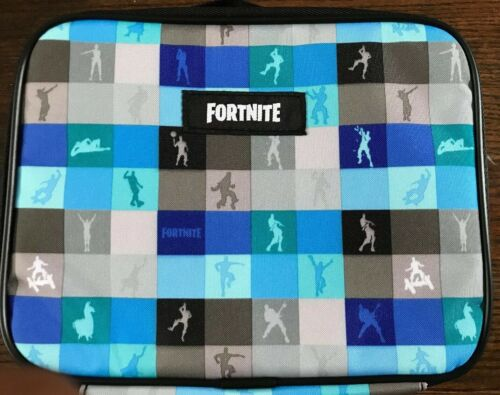 New Fortnite Magnify Insulated Lunch Box Bag Dancing Silhouette Blue Dance NEW