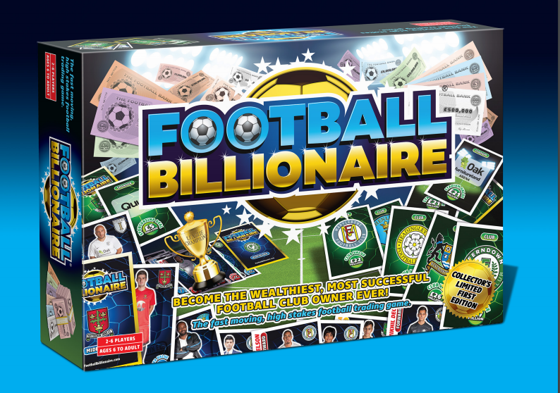 FOOTBALL BILLIONAIRE BILLIONAIRE BILLIONAIRE BOARD GAME - COMPATIBLE WITH MATCH ATTAX CARDS - LTD 1st ED 4841c2