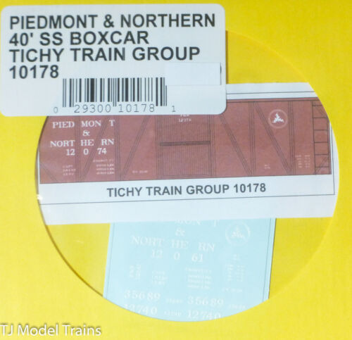 Piedmont /& Northern 40/' Single-Sheathed Box Tichy Train Group #10178 Decal for