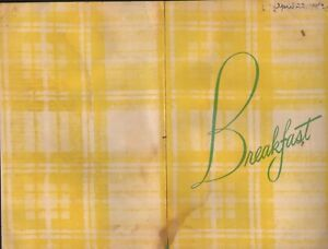 Vintage HOT SHOPPES BREAKFAST Menu Restaurant 1952
