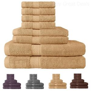 Discount Bath Towels Set On Sale Clearance Hotel Collection 8 Piece 100 Cotton 81159557034 Ebay