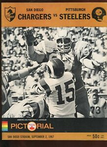 buy online 73e47 f8ae8 Details about Sep 2 1967 AFL Pre Season Program Pittsburgh Steelers at San  Diego Chargers EXMT
