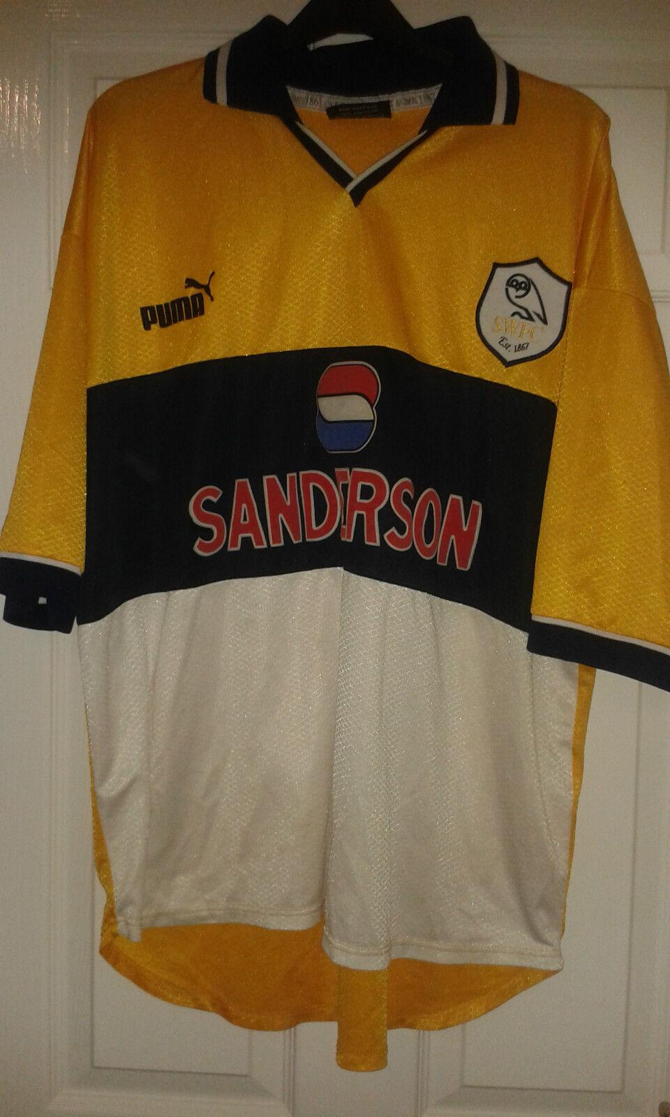 Camicia calcio da uomoSheffield Wednesday FCRETRO RAREAWAY 199899  XL