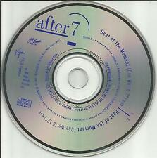 AFTER 7 Heat of the Moment 7 & 12 INCH EDIT REMIXES PROMO DJ CD single MINT 1989