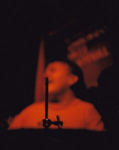 """DRUMMER RICHARD """"DICKIE"""" BORDEN ORIGINAL 8x10 COLOR PHOTO - 1988  ANDY'S CHICAGO"""