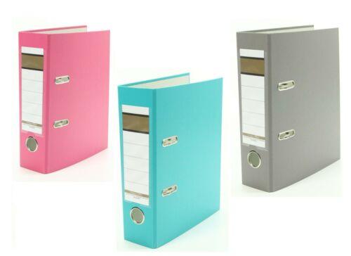 75mm je 1x pink 3x Ordner DIN A5 türkis und grau Farbe