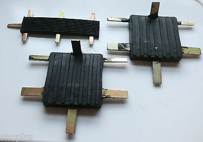 Land Rover Series Brake Clutch Accelerator Pedal Pad Rubbers Set 278166 509463