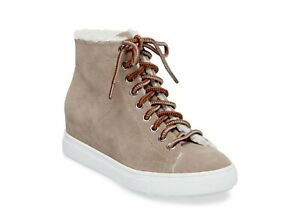 Steve-Madden-Womens-Sunny-Suede-Almond-Toe-Ankle-Fashion-Taupe-Suede-Size-8-5