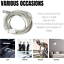 miniature 8 - 10Ft Android Micro USB Fast Charger Cable Data Sync Charging Cord For Samsung LG