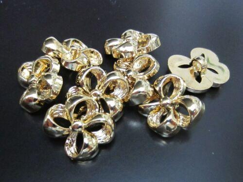 5361go-23mm 5 FETE brillant dorée boutons comme cadeau boucle