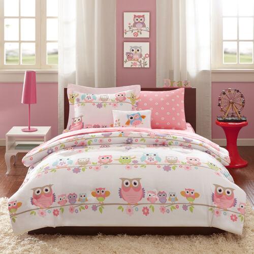 CUTE PINK PURPLE WHITE BLUE POLKA DOT BED IN A BAG GIRLS COMFORTER SET /& SHEETS