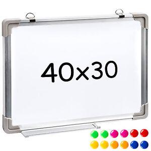 tableau blanc magn tique m mo ardoise mural 40 x 30 cm 12 magnets ebay. Black Bedroom Furniture Sets. Home Design Ideas