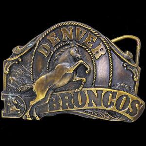 Broncos-de-Denver-Colorado-NFL-Equipo-Oficial-Futbol-Abanico-NOS-Vintage-Hebilla
