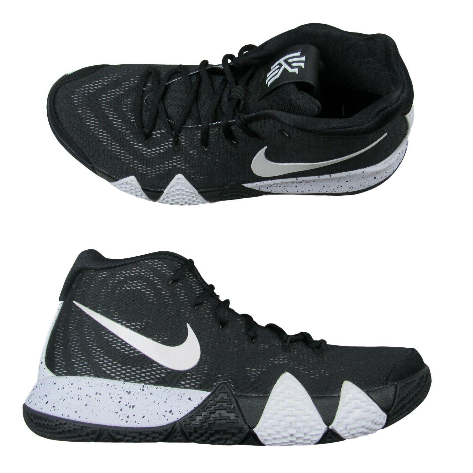 nike kyrie 4 4 4 tb mens scarpe da basket 46 oreo bianco nero av2296 001 nuova 5992ee