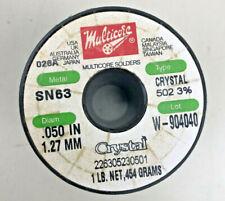 Multicore Solder Sn63 Crystal 502 3 0050 Inch 127mm 1lb 454g