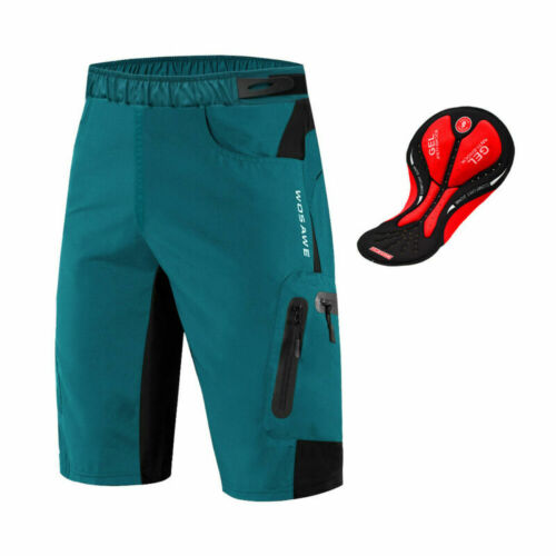 Mens MTB Downhill Mountain Bike Baggy Cycling Shorts with Gel Padded Breathable