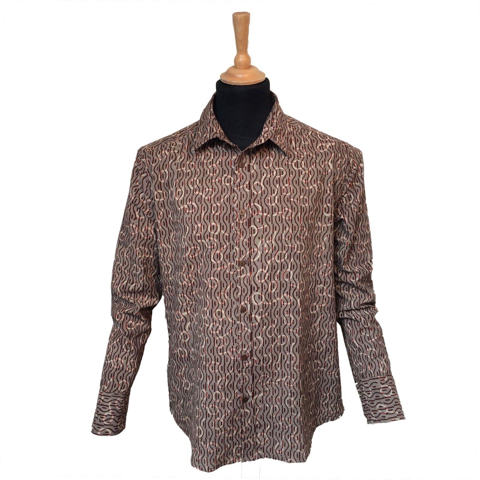 UNIQUE all over print long sleeve cotton shirt, casual, button down collar (E) | Düsseldorf Online Shop  | Abgabepreis