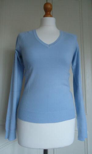 Ex ZARA Ladies Long Cap Sleeve Knitted Cotton Work Top Jumper V Neck RRP £17.99