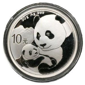 Ag.999 Silver 10 YUAN Collection Hobby HCGS 2020 China Panda Silver Coin 1 oz