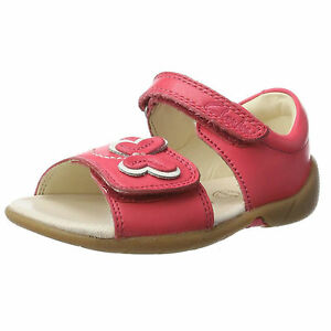 4520b11b933fcc Details about Clarks Girls Kiani Sun Fst Pink Leather Hook & Loop Strap  Smart Sandals