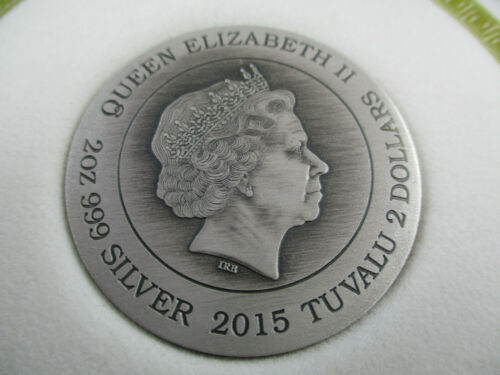 2015 GODDESSES OF OLYMPUS ATHENA 2oz Silver Coin HIGH RELIEF ANTIQUE.