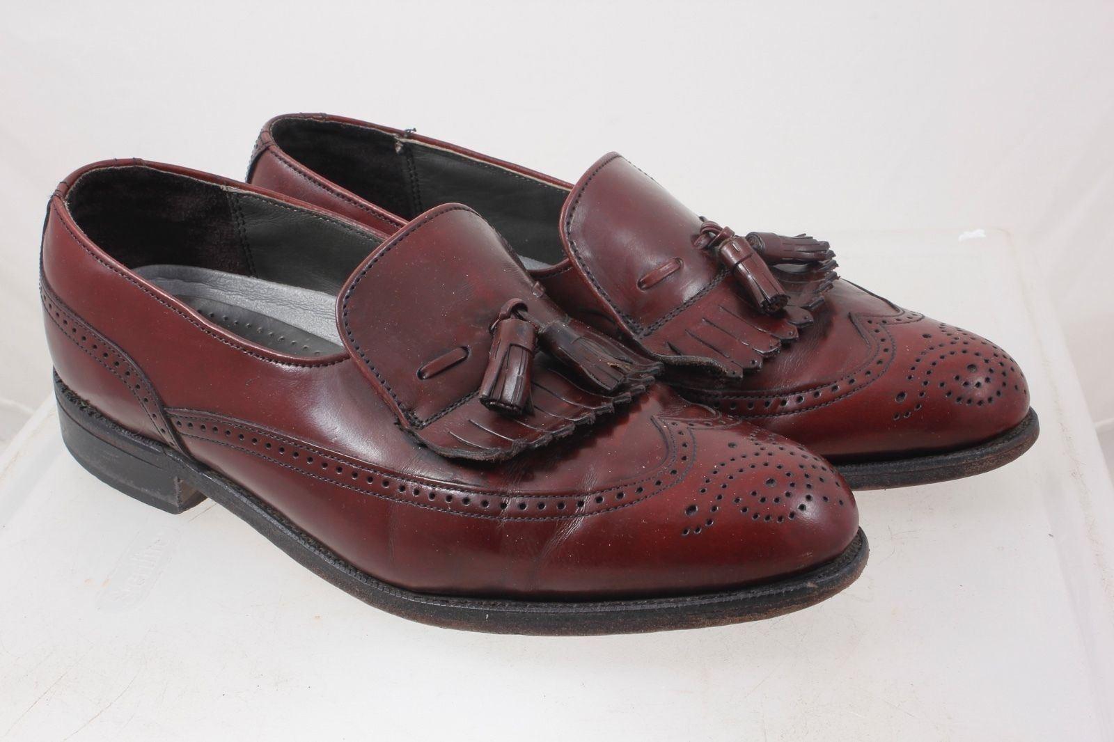 Classique Dexter glands Kilcravate Marron Cordovan cuir Loafers bout d'aile pour hommes 8 m