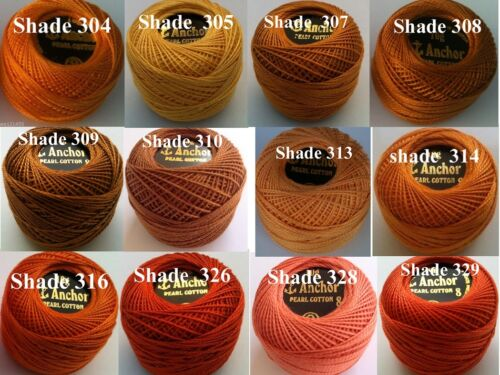 ANCHOR Cotton Crochet Knitting Thread Tatting Yarn Embroidery Balls Choose Color