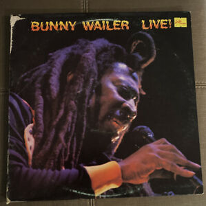 Bunny-Wailer-Live-Reggae-Vinyl-LP-VG-1983-Free-Shipping