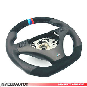 Tausch-Abgeflacht-Tuning-Lenkrad-BMW-M-Power-E82-E84-E87-E88-E90-E91-E92-E93-3st